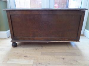 Oak toy box Before.
